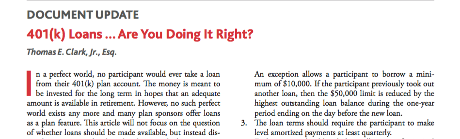 401k Loans – Are You Doing it Right