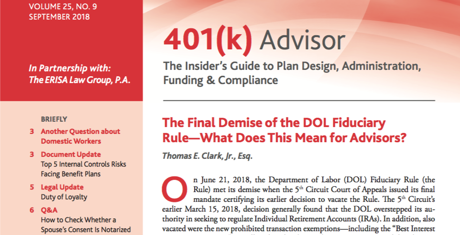 Final Demise of DOL Fiduciary Rule What Does it Mean for Advisors